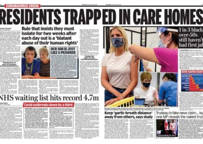 Residents trapped in Care Homes – Daily Mail – Eleanor Hayward