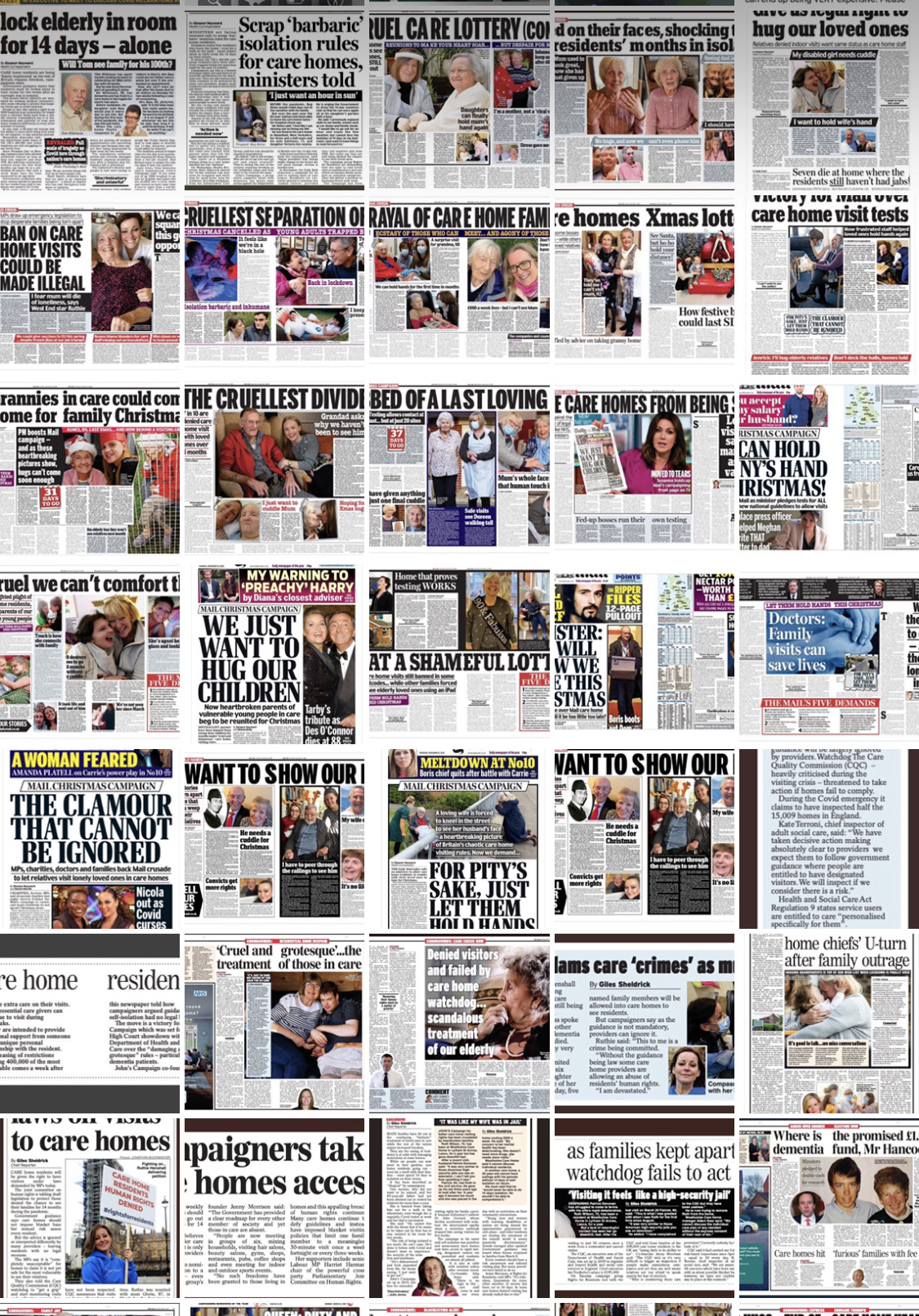Picture showing, all of our newspaper media coverage