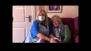 Penny Hutchinson ,talking to ITV News, Halifax, with Mum Yvonne